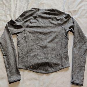 lululemon size 4 gray rulu long sleeve run top